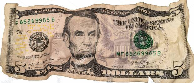crumpled-five-dollar-bill-T2XMP5